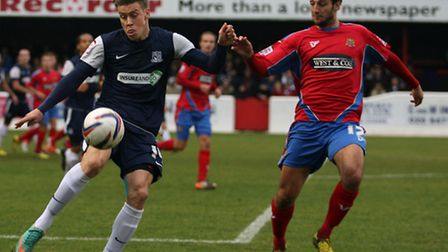 Luke Howell (right) is hopeful of signing a new contract with Dagenham & Redbridge. Pic: Dave Simpso