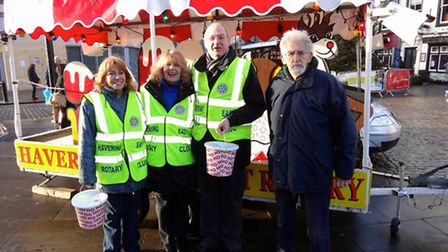 Members of Havering East Rotary Club helped to raise more than £8,000 for charity by taking its Sant
