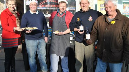 Traders, residents and councillors enjoyed local food and beer while out shopping in Pilgrims Hatch