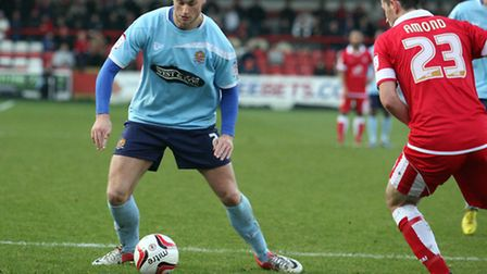 Sam Williams looks set to return to the starting line-up for tomorrow's match against Rochdale. Pic: