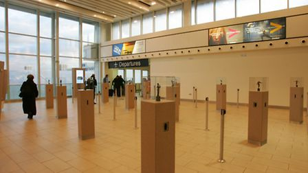The departure lounge at City airport
