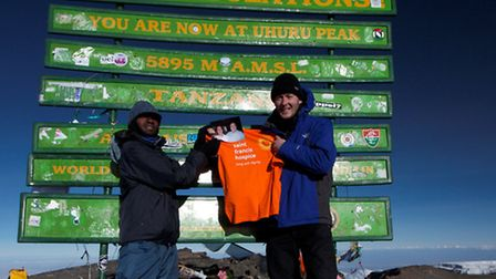 Chris Worden climbed Mount Kilimanjaro, in Tanzania, and raised £2,700 St Francis Hospice, which car