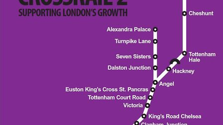The route planned by London First.