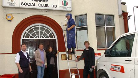 Regulars are pitching in to help re-decorate the Rainham Social Club for free, which is facing the t