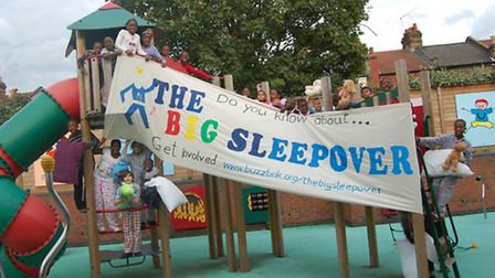 50 children from across the borough enjoyed the big sleepover at the Froud Centre