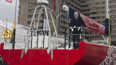 The Clipper 70 with Sir Robin Knox-Johnston, chairman of Clipper Ventures Plc