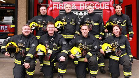 A team of firefighters are preparing to take part in the Mud 'n' Madness challenge. Firefighters to