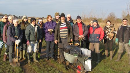 The volunteer group who planted 400 trees in Hornchurch Country Park on Sunday
