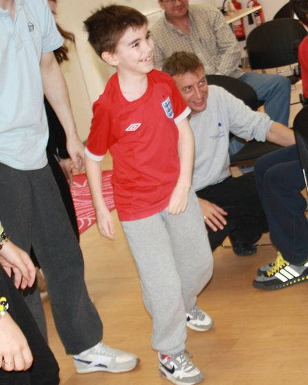 Daniel Wraight learnt to walk at the trust