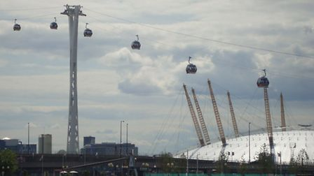 The cable car crossing in east London