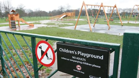 The play area in Valentines park is now showing its age