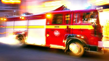 Firefighters cut the woman's roof off to free her