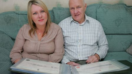 Sharon Joslin and her father Barry Strange have found 1200 relatives after tracing their family tree