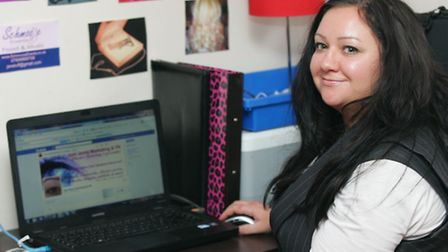 PR boss Jenny Townsend with her blog on Facebook