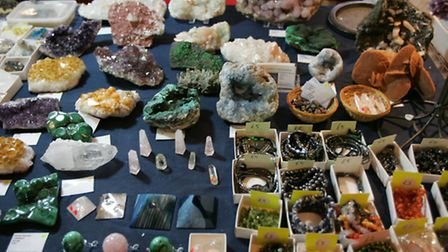 Some of the rocks & stones on display at last year's Rock and gem show