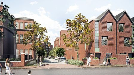 A computer generated image of new homes planned for Samson Street, Plaistow.