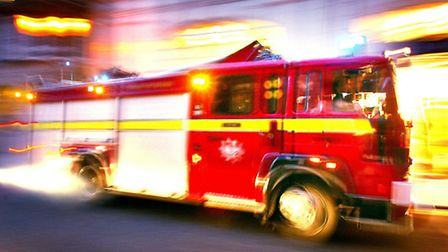The woman was taken to hospital suffering the effects of smoke inhalation