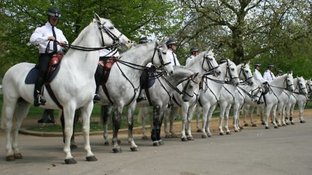 Mounted officers will be patrolling the borough over the half-term break