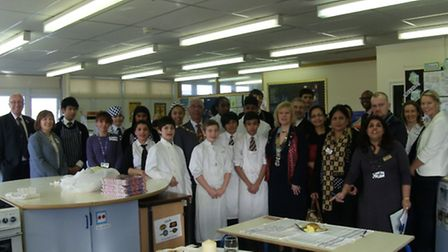 The competitors at Caterham High School.