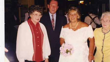 Shirley and Gerald McCarron at their wedding