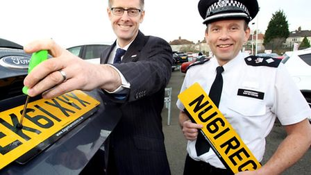 Howard Clifforth from Dagenham Motors and Chief Superintendent Gary Buttercase from Metropolitan Pol