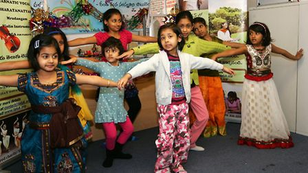 Children try out some dance moves with TAL UK in Ilford