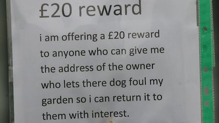The sign in the homeowners front garden