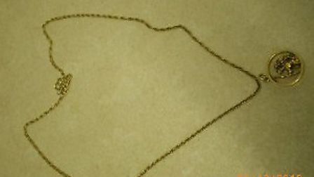 The necklace was taken at Christmas