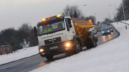 Havering Council gritting roads every night