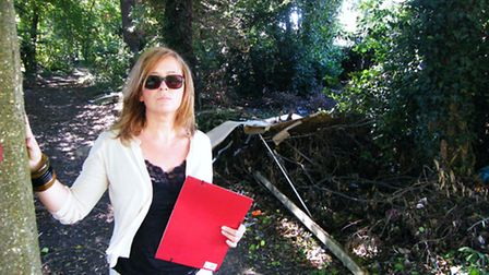 Brentwood South Cllr Julie Morrissey has campaigned to get a facelift for a woodland area of Brentwo