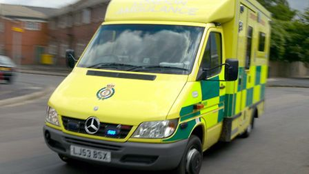 Two ambulance crews rushed to the scene