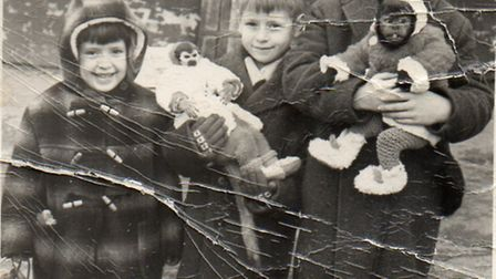 Steve Troy (right, nine) with brother Martin (centre, six) and sister Janice (four)