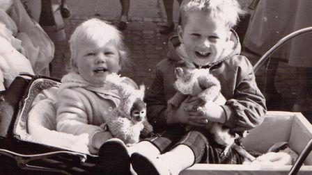 Sharon and Steve Cobb with the monkeys