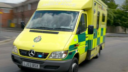 Ambulance staff treated the man for a hand injury