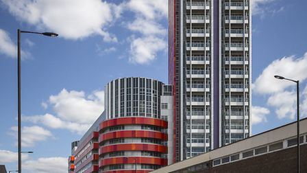 Vermillion building on Rathbone Market site in Canning Town.