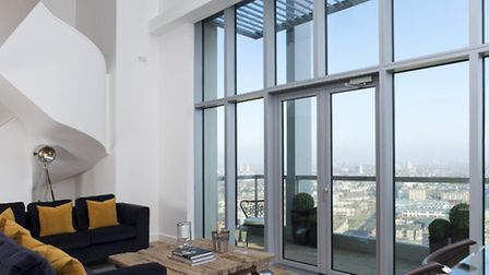 Inside the £700,000 penthouse apartment at the top of the Vermillion building.