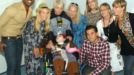 James Argent opening a new sensory room at Haven House Children's Hospice last year with Kevin Adams