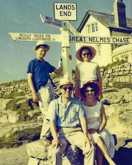 On holiday with the family in the 1960s