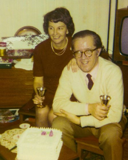 Jessie and John Pask on their silver wedding anniversary, 1973