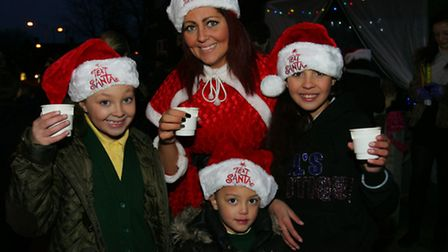 Rebecca Warren with her daughters Rewiaya, Brooke and Aaliyah, at a Christmas event