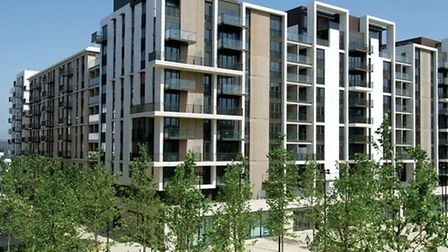 Newham residents can now apply to bid for hundreds of homes at East Village. Pictured is Manna House