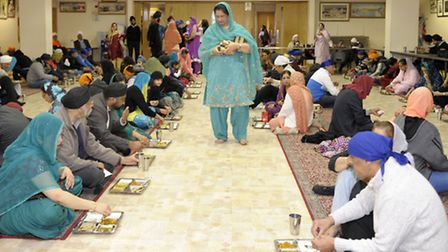 Every day the Gurdwara is open and offers free meals to the community