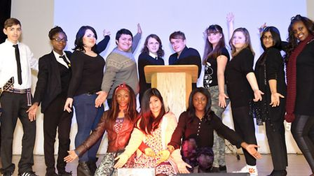 Forest Academy has its Annual Talent Show. A group pictue of the performers.