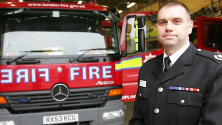 Borough commander Steve Brown in front of the appliances