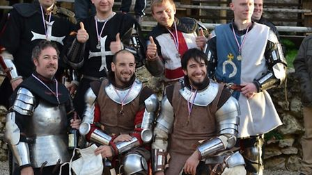 The UK Medieval Fighting team competing in Battle of the Nations.