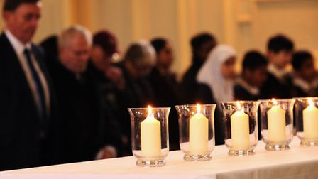 One minute silence in the Holocaust Memorial Day at Newham Town Hall, East Ham. Picture: Isabel Infa