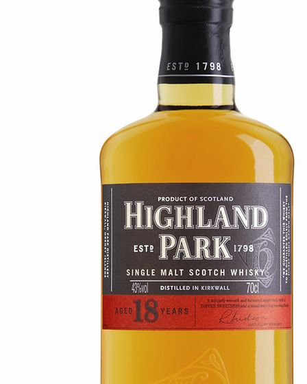 Highland Park 18 Year Old, 70cl, £69.99, ww.thewhiskyshop.com. Picture: PA Photo/Handout.