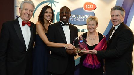 Nick Owen, BBC TV presenter; Sarah Toule, Prostate Cancer UK; Dr Frank Chinegwundoh, Consultant Onco