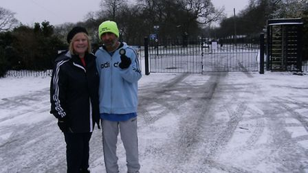 Eve Conway-Ghazi, District Governor of Rotary in London, with trainer Harmander Singh from Sikhs in