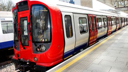 One of the new tube trains soon to replace all models on the Hammersmith and City, and District line